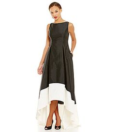 Dillards Adrianna Papell Sleeveless Midi Colorblock Dress #Dillards