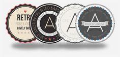 http://www.aurove.com/downloads/retro-badges/