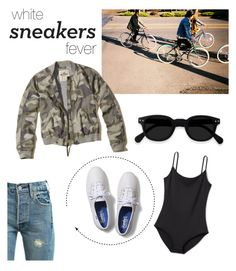 """""""white sneakers fever"""" by gigipagano ❤ liked on Polyvore featuring SOREL, Levi's, Keds, Hollister Co. and modern"""