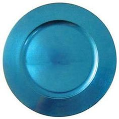 "Tabletop Classics TRBL-6651 13"" Blue Round Acrylic Charger Plate"