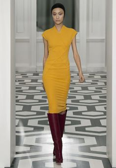 Another VB A/W11 dress. Again with the extended shoulders but I'm actually loving the wrap seamed detail. #victoriabeckham #dress