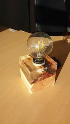 Cedar epoxy resin led lamp