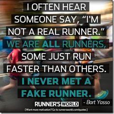 i never met a fake runner