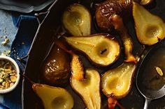 Honey and spice roasted pears