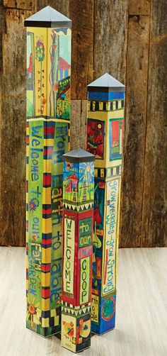 $399 Art Pole Garden Collection - We gave artist Stephanie Burgess of Painted Peace three blank poles to tell a story. This Art Pole Garden was the result. Art Poles feature artwork laminated onto a lightweight PVC pole for fade-resistance, durability, & reduced shipping cost. Easy to install. Hardwar...