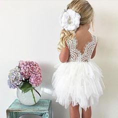 How beautiful! Would be perfect for a flower girl dress. Cute Flower Girl Dresses, Tulle Flower Girl, Girls Dresses, Wedding Party Dresses, Dream Wedding, Wedding List, Fantasy Wedding, Wedding Bells, Wedding Planner