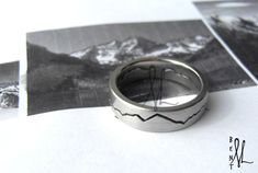 8mm Custom Mountain Range Ring by MichelleLenaeJewelry on Etsy