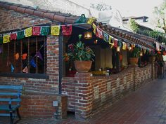 Restaurant in Olvera Street, the place where Los Angeles was born. In Los Angeles, Los Angeles County, California, USA.