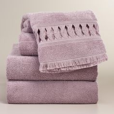 Lavender Catalina Towel Collection   World Market