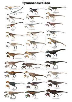 Tyrannosauroid Dinosaurs Version 3 by Kana-hebi on DeviantArt