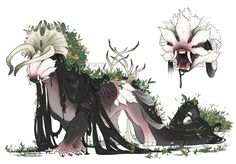"""endivinity: """"boy howdy hello , a new decade and I'm here with a big ol swamp witch I got to design! Mythical Creatures Art, Alien Creatures, Mythological Creatures, Magical Creatures, Monster Concept Art, Fantasy Monster, Monster Art, Creature Concept Art, Creature Design"""