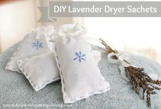 DIY Lavender Sachets Tutorial by Town and Country LIving