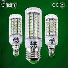 2017 NUEVO Completo LLEVÓ la lámpara E27 E14 69 led 72 led 106 led SMD 5730 Bulbo Del Maíz de 220 V lamparas led Lámpara Led luz de La Vela Proyector