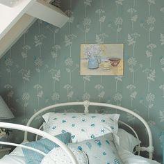 Cow Parsley - Wallpaper - Duck Egg and Cornflower | Vanessa Arbuthnott