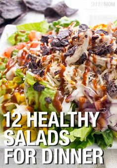 12 recipes for HEALTHY dinner salads! I want to try them all!!