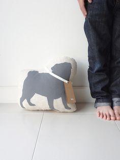 Hug Grey Pug Dog