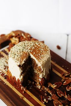Oat and Pecan Cake with Vanilla Ginger Frosting