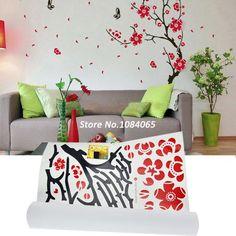 5Pcs/Lot Red Black Plum Blossom Decorative Combination Wall Sticker DIY Home Room Art Decal 8411 US $13.10