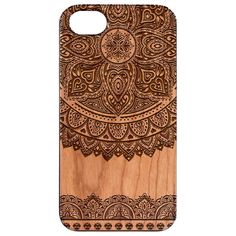 Mandala 3 Engraved Carved Wooden Unique Case - iPhone 5 / 5S / SE
