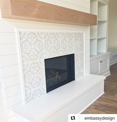 Good Totally Free farmhouse Fireplace Tile Style It truly is winter. Even though… – farmhouse fireplace tile Home Fireplace, New Homes, Fireplace Remodel, Fireplace Tile Surround, House, Home, Living Room With Fireplace, Beautiful Living Rooms, Fireplace Frame
