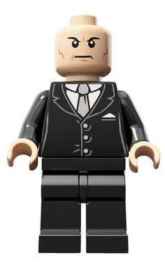 LEGO Super Heroes Lex Luther Black Suit Minifigure Minifig From Superman 6862 $5.99