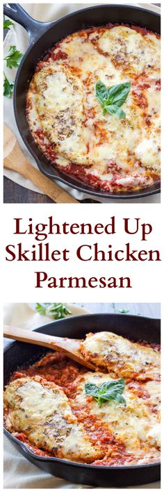A lighter and easier to make version of chicken parmesan! Great for a fancy Sunday dinner or an easy weeknight meal!