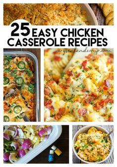 easy chicken casserole recipes #TriplePFeature
