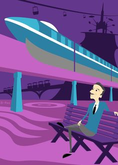 Etsy の Walt's In The Park  Set of 5 by BrianRechenmacher