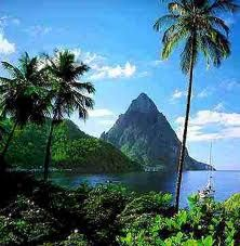 St. Lucia ... This is the scene that is most famous on St.Lucia.