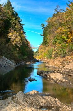 The gorge at Quechee State Park   34 Reasons Vermont Is The Most Beautiful Place In The World