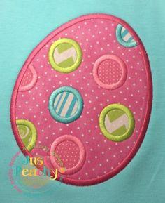 Polka Dot Egg Applique Design