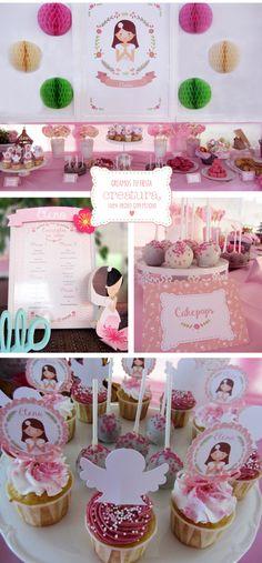creatura Mesa dulce de primera comunión de niña / Dessert Tablet First…