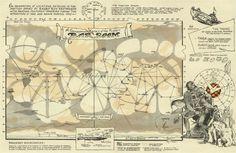 A map of Barsoom, John Carter's Mars.