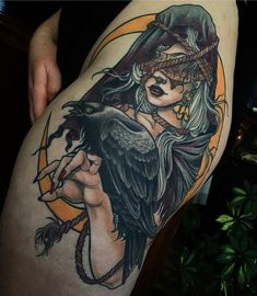 Image result for creepy neo traditional tattoo