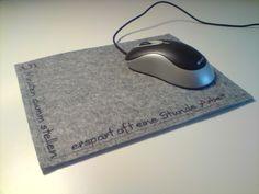 Mousepad mal anders von Stich-Art auf DaWanda.com