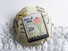 Fabric button,  printed ice de la boutique Mauveetcapucine sur Etsy
