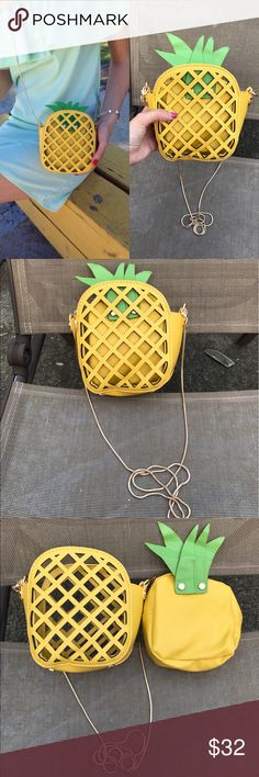 TWO AVAIL  Cute Crossbody Pineapple Bag Super cute bag!!! Perfect for traveling around the city and carrying basic items like a phone, lipstick, etc. Bags Crossbody Bags