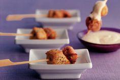 Champignon-kipspiesjes met mosterdmayonaise - recept - Taste and Inspiration recepten I Love Food, Good Food, Yummy Snacks, Yummy Food, Happy Foods, Food N, High Tea, I Foods, Food Inspiration