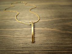Items similar to Gold bar necklace, minimal jewelry, Vermeil gold chain necklace - simple modern jewelry on Etsy Gold Bar Necklace, Arrow Necklace, Pendant Necklace, Minimal Jewelry, Jewelry Design, Unique Jewelry, Charms, Trending Outfits, Handmade Gifts