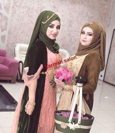 Muslim Fashion, Hijab Fashion, Fashion Outfits, Turkish Fashion, Turkish Style, Jli Kurdi, Wedding Hijab Styles, Beautiful Muslim Women, Beautiful Little Girls