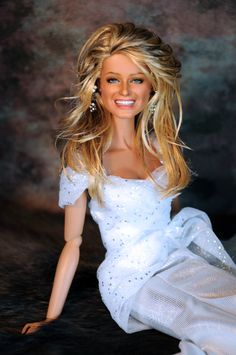 Farrah Fawcett (vs. 10.0) A Mattel Black Label Barbie repainted and restyled by Noel Cruz of ncruz.com for myfarrah.com.