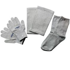 5Sets/10Pairs Electrode Conductive Gloves Silver Fiber Electrotherapy Massager Unit Sockes+Knee Pads Physical Therapy Body Relax
