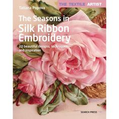 Ribbon Embroidery Tutorial, Embroidery Patterns Free, Silk Ribbon Embroidery, Embroidery Stitches, Hand Embroidery, Embroidery Designs, Flower Making With Ribbon, Ribbon Work, Textile Artists