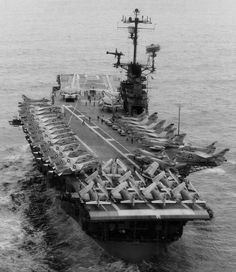 USS Hancock CVA CV-19 Essex class Aircraft Carrier US Navy Uss Hancock, Essex Class, Subic Bay, Go Navy, Leyte, Rear Admiral, South Vietnam, Thing 1, Flight Deck