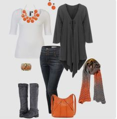 I need the sweater, necklace, and scarf - perfect for Thanksgiving!