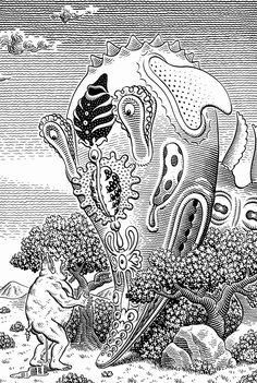 Jim Woodring   - anyone else get a wicked head rush while looking at this?