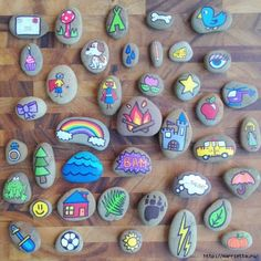 Ожившие камушки или роспись на камнях (4) (570x570, 235Kb)
