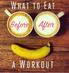 Fit Tip: What to Eat Before & After a Workout via @LaurenConrad.com/ // #banana #fittip #workout #snack