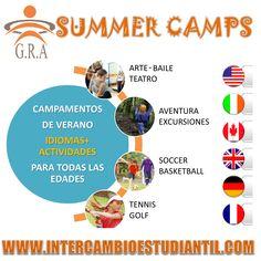 #Campamentos #VERANO #Summer #Fun #Amigos #Conocer #Aprender #Viajar #Idiomas #Vacaciones #USA #GRAcademic #Canada #Inglaterra #Alemania #Francia #Italia #Brasil  www.intercambioestudiantil.com - info@intercambioestudiantil.com