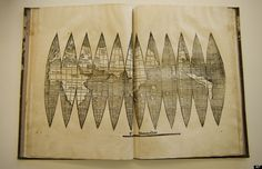 Rare Early America Map By Martin Waldseemueller Found In Germany - when folded the map looks like a globe.